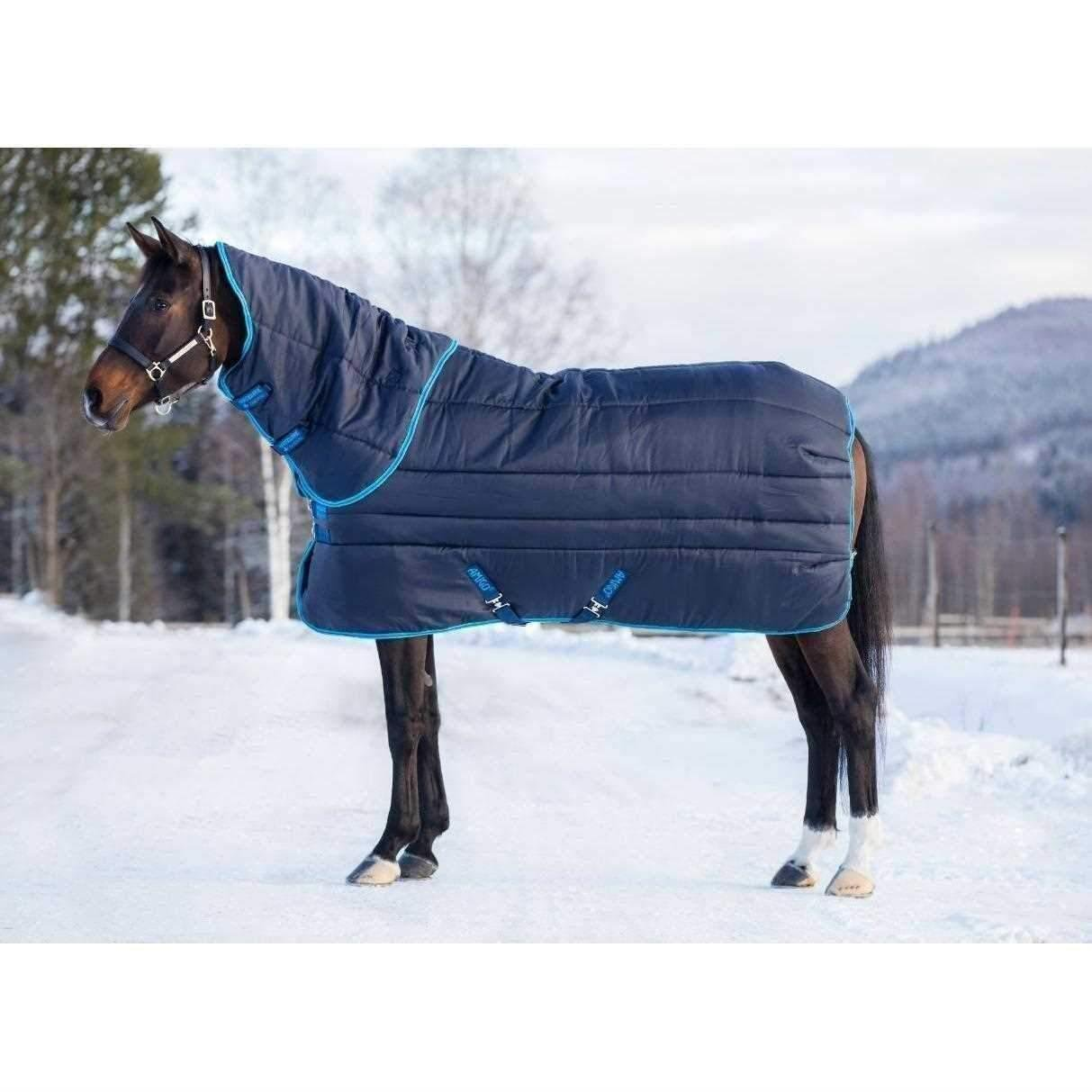 Navy Electric bluee & Navy 5ft9\ Navy Electric bluee & Navy 5ft9\ Amigo Insulator Heavyweight Plus Combo 550g Horse Stable Rug Brown Brown and Cream