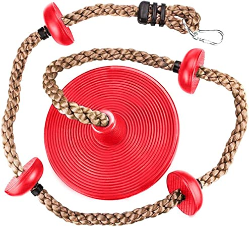 Columpio de Disco de Madera para niños, Escalada con Cuerda ...