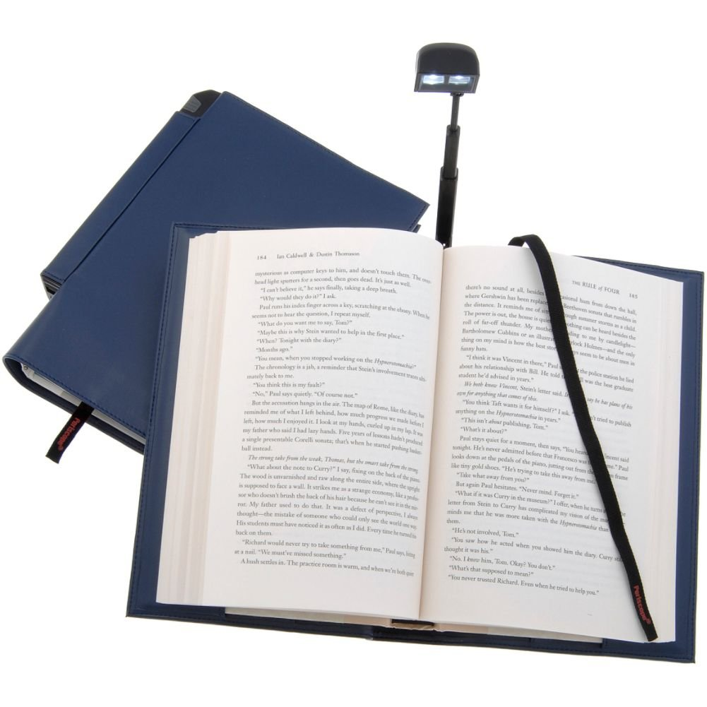 Periscope Hardcover Booklight in a Bookcover (Blue) 11205
