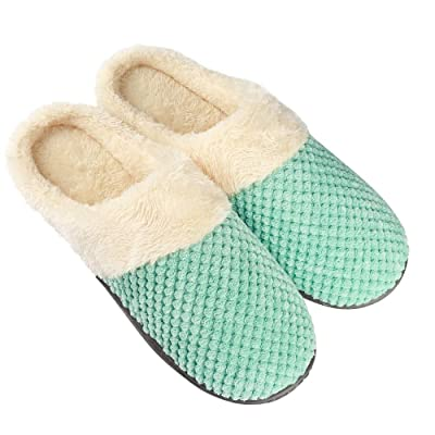 Women's Comfort Coral Fleece Memory Foam Slippers Fuzzy Plush Lining Slip-on Clog House Shoes for Indoor Outdoor Use Best Gift for Women Girls Birthday Christmas | Slippers