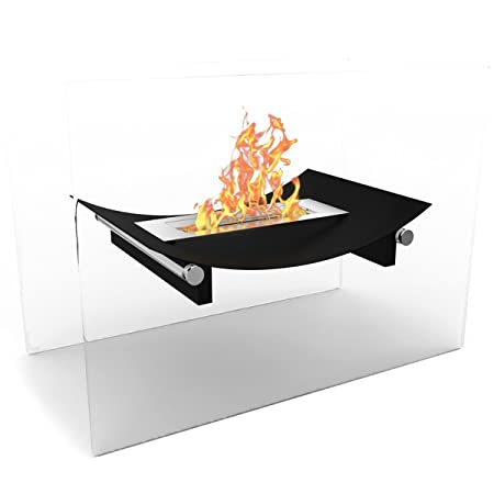 Regal Flame Black Bow Ventless Free Standing Bio Ethanol Fireplace Can Be Used as a Indoor, Outdoor, Gas Log Inserts, Vent Free, Electric, Outdoor Fireplaces, Gel, Propane Fire Pits.