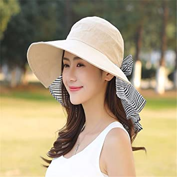 d28f4449728 RangYR Women Hat Summer Fall Sun Hat Visor Uv Protection Folding Outdoor Sun  Protection Wide-