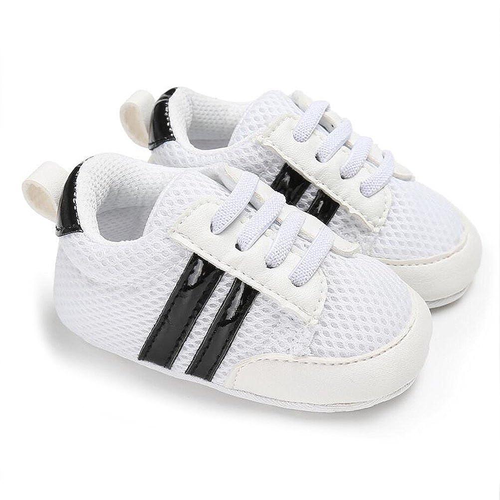 VLUNT Zapatos de Bebé Zapatillas Deportivas para Bebés Recién Nacidos Primeros Pasos Calzado Deportivo de Cuero Antideslizante Suave para Niños Pequeños ...