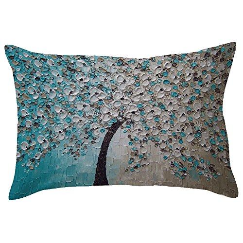 Pillow Rectangle Toss Decorative (Decorative Throw Pillow Cases Rectangle Pillow Cover Cushion Case Toss Pillowcase Hidden Zipper Closure Cases)
