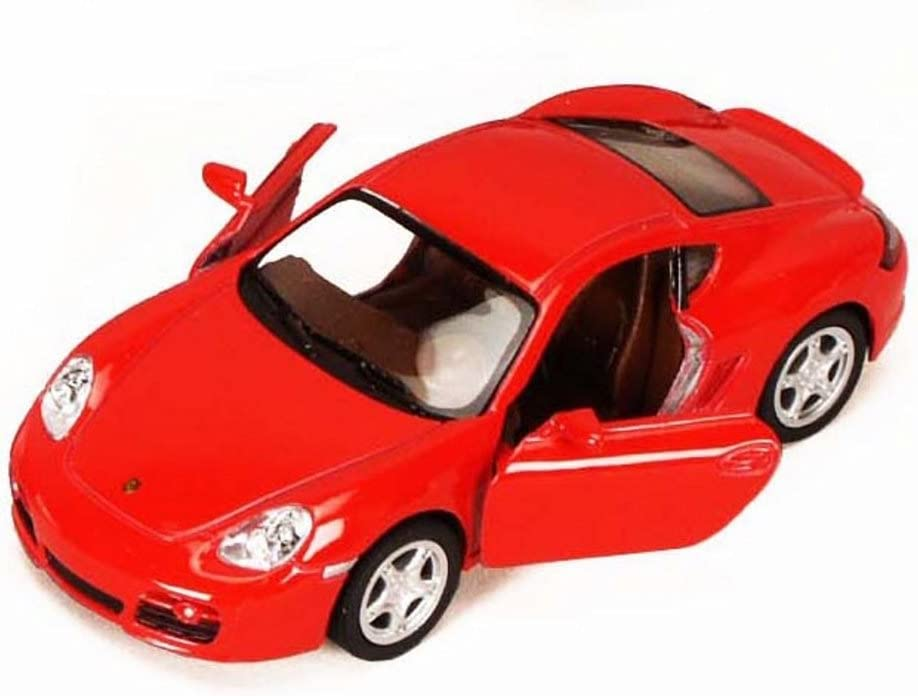 KiNSMART Porsche Cayman S, Red 5307D - 1/34 Scale Diecast Model Toy Car, but NO Box