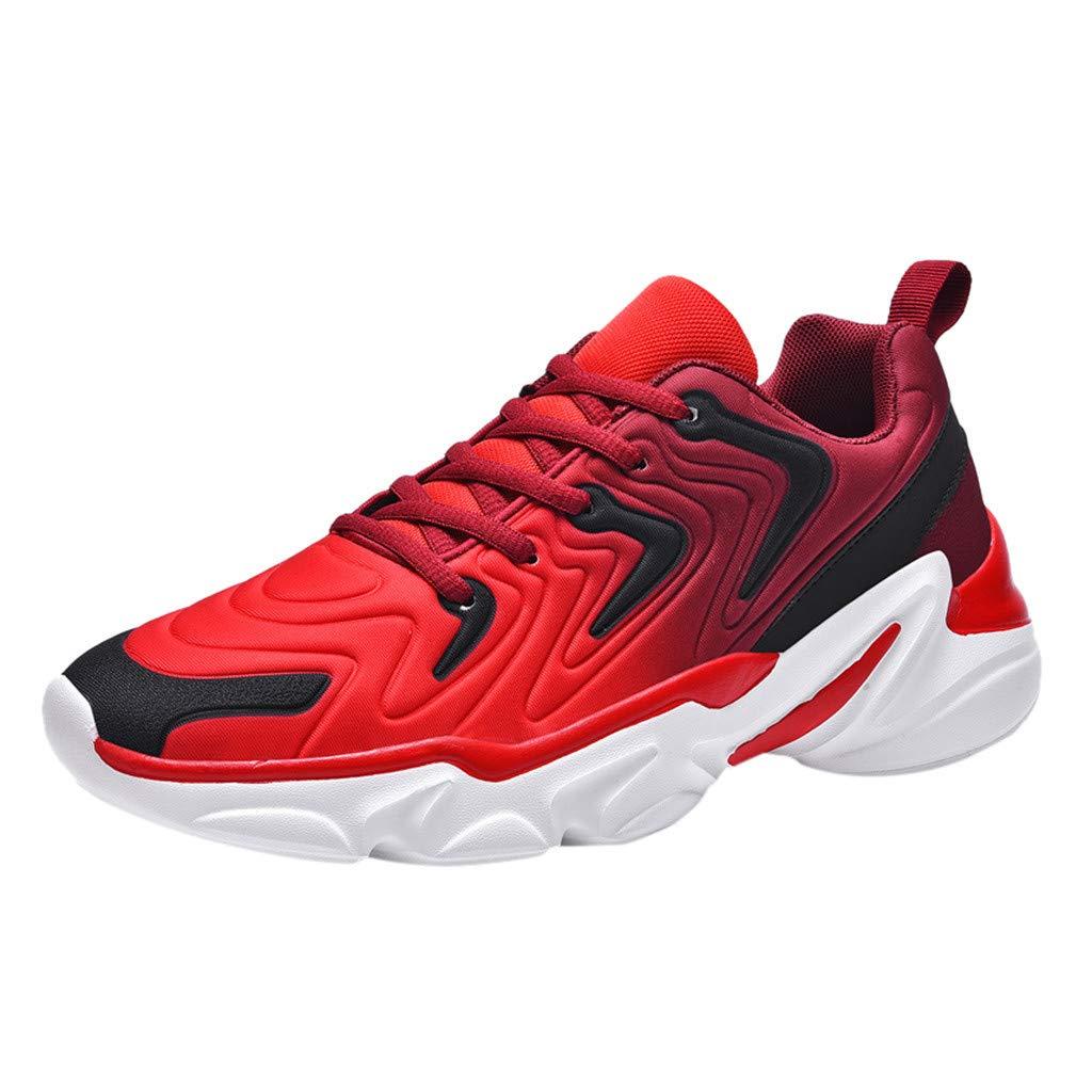 CUTUDE Herren Laufschuhe Sport Schuhe Gym Leichte Atmungsaktive Low Top Sneakers Freizeitschuhe Outdoorschuhe Netzgewebe Leichte rutschfeste Wanderschuhe