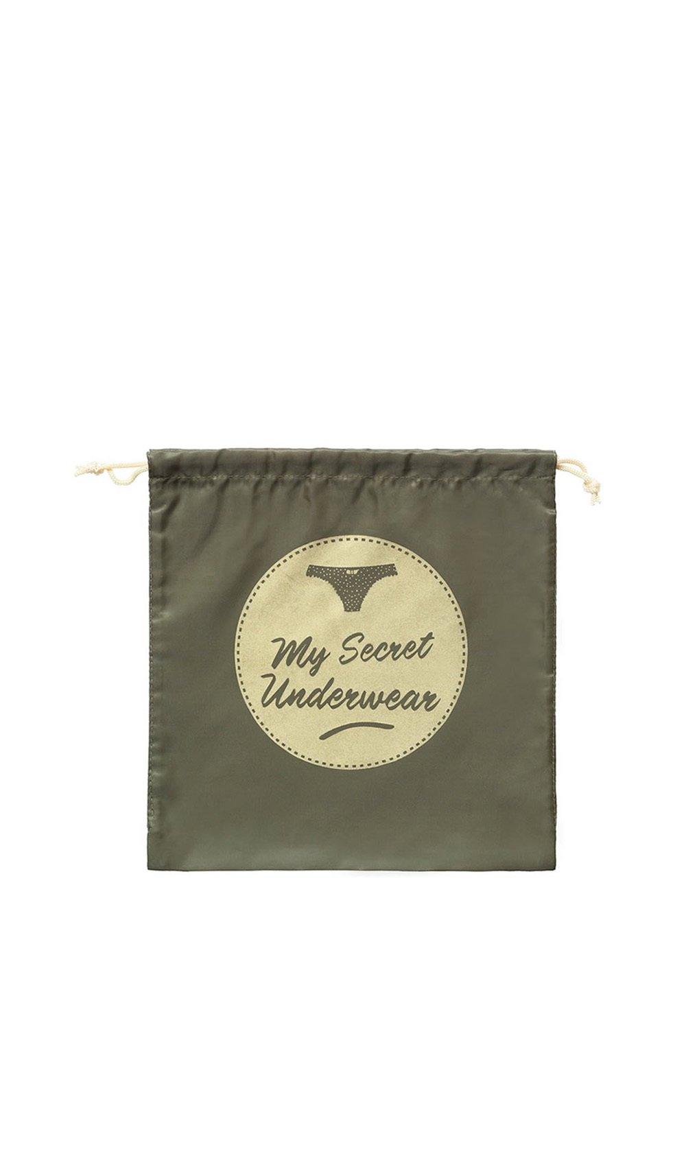 Cathy ds paris Clutch bag MY SECRET UNDERWEAR Khaki Women Spring/Summer Collection