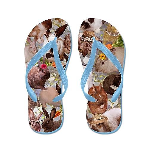 07467e68895 Amazon.com: CafePress - Happy Bunnies - Flip Flops, Funny Thong ...