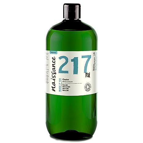 Naissance Aceite de Ricino BIO 1 Litro - Puro, natural, certificado ecológico, prensado