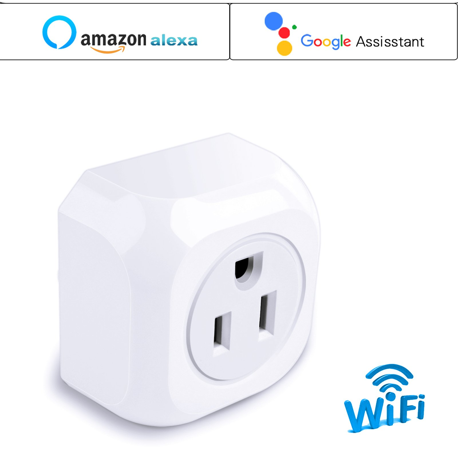 KOOTION 4 Pack Wifi Smart Plug Mini Outlet with Energy Monitoring, Compatible with Alexa Echo and Google Assistant, No Hub Required, ETL Listed, White by KOOTION (Image #8)