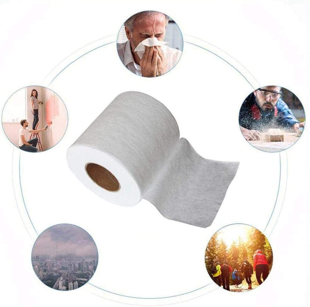 White /× 6.89 Inch W Nonwoven Filter Fabric Filtering Layer Application- Meltblown Roll Making The Efficiency Filters 10.9 Yards Boliaman Meltblown Cloth Original Mask Cloth Material L