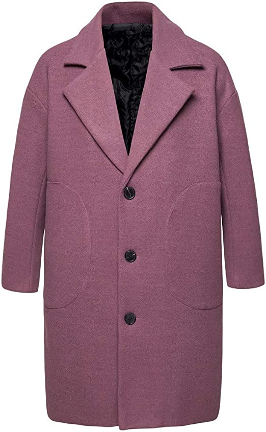 manteau long violet homme