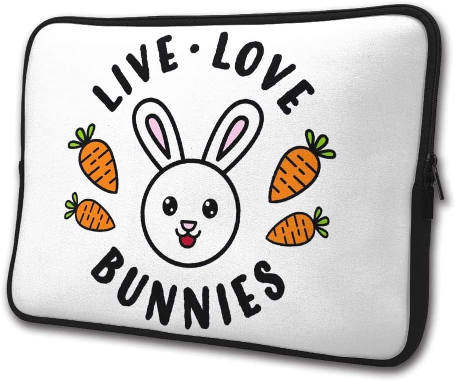 Live Love Bunnies Laptop Sleeve Case Computer Cover Handbag