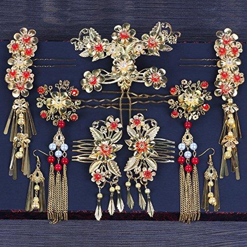 XPY&DGX Accessoires De Cheveux De Mariée En Épingle À Cheveux De Mariage,Chinois style vêtements diadème nuptiale phoenix coronet cheveux accessoires de mariage costume