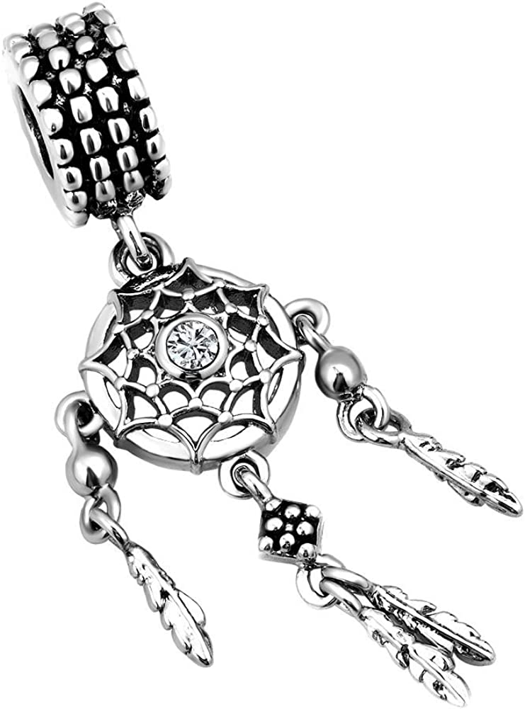 Breloque en forme de capteur de r/êves par Uniqueen pour bracelet /à breloques