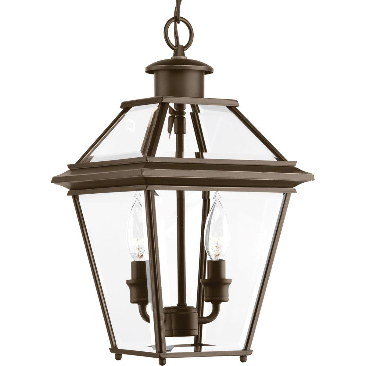 Progress Lighting P6537-20 Burlington Two-Light Hanging Lantern, Oil Rubbed Bronze