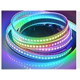 Led Feux De Bande étanches IP67 144 LEDs / M DC5V APA102 Addressable Pixel Magic LED Bande PCB Blanc