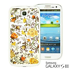 OnlineBestDigital - Flower Pattern Hardback Case for Samsung Galaxy S3 III I9300 - Vintage Floral Print