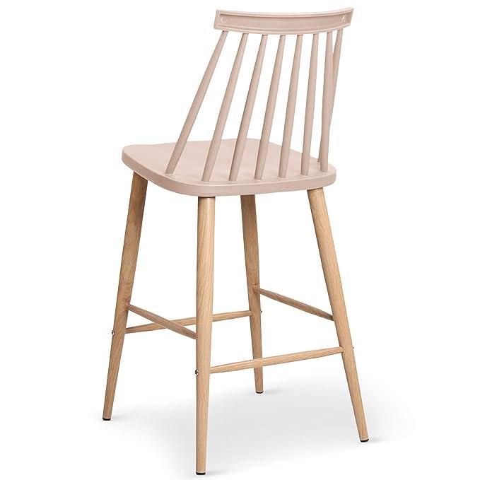 Menzzo Trouville sillas, Polipropileno, Beige, 43: Amazon.es ...