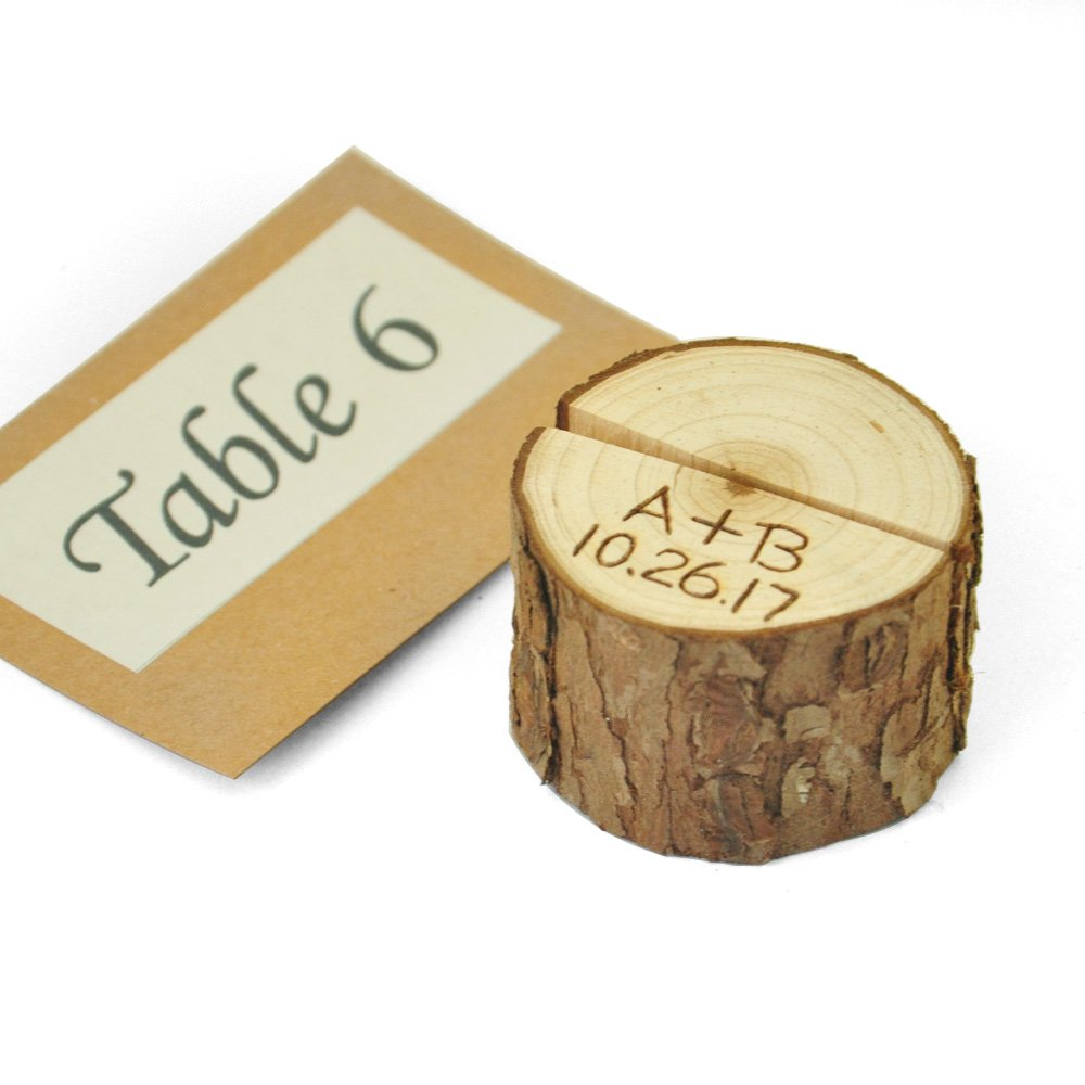 Set of 10 Personalized Wood Table Number Holder,Table Number 1-10 Holder,Wedding place card holder,Rustic table Party decor by ZXB JEWELRY (Image #3)