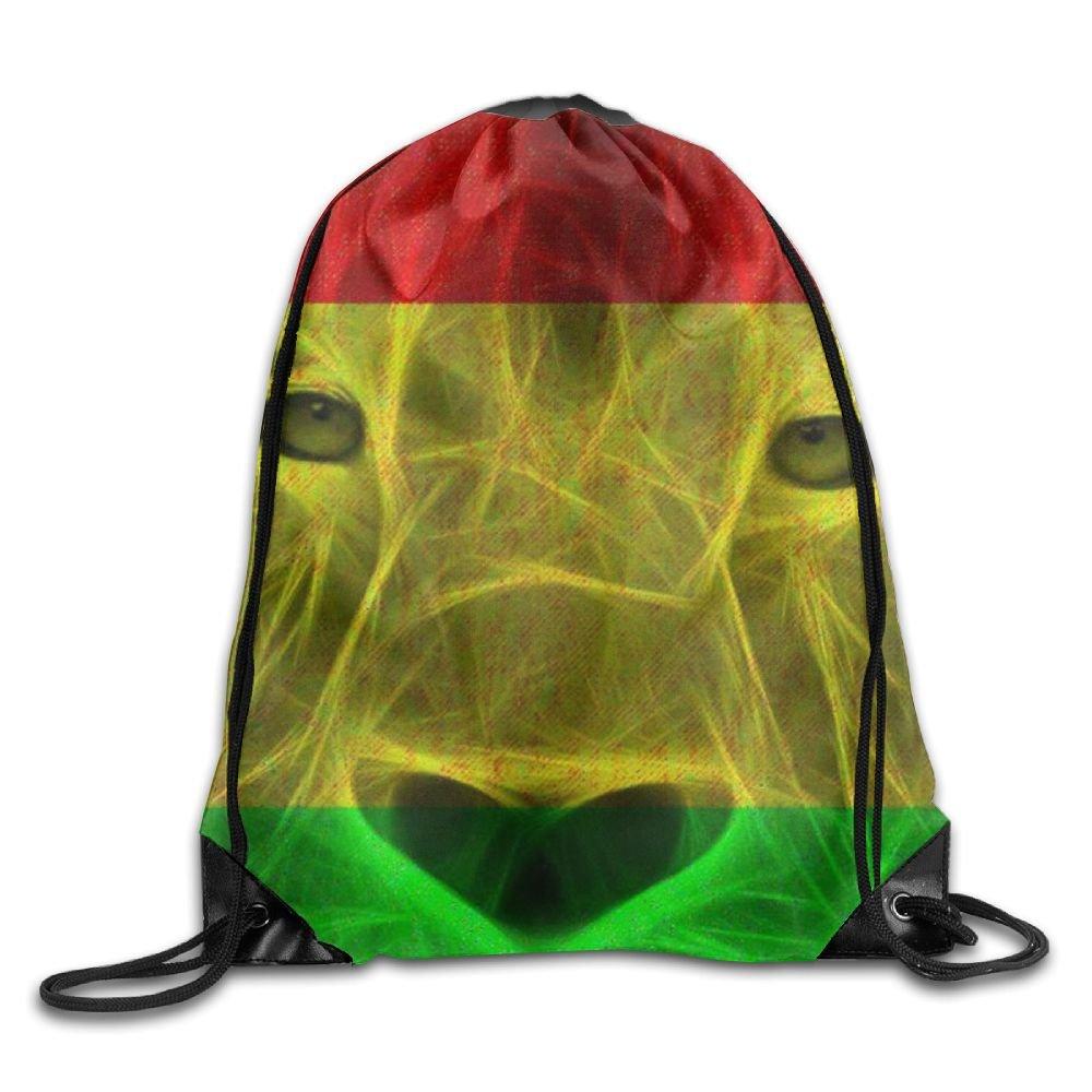 tyow-zlジャマイカライオンプライドメンズ&レディース巾着バックパック旅行バッグ B07CKM9BJD