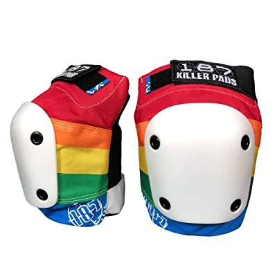 Triple Eight 187 Killer Pads - Slim Knee Pad (Rainbow, Large) : Sports & Outdoors