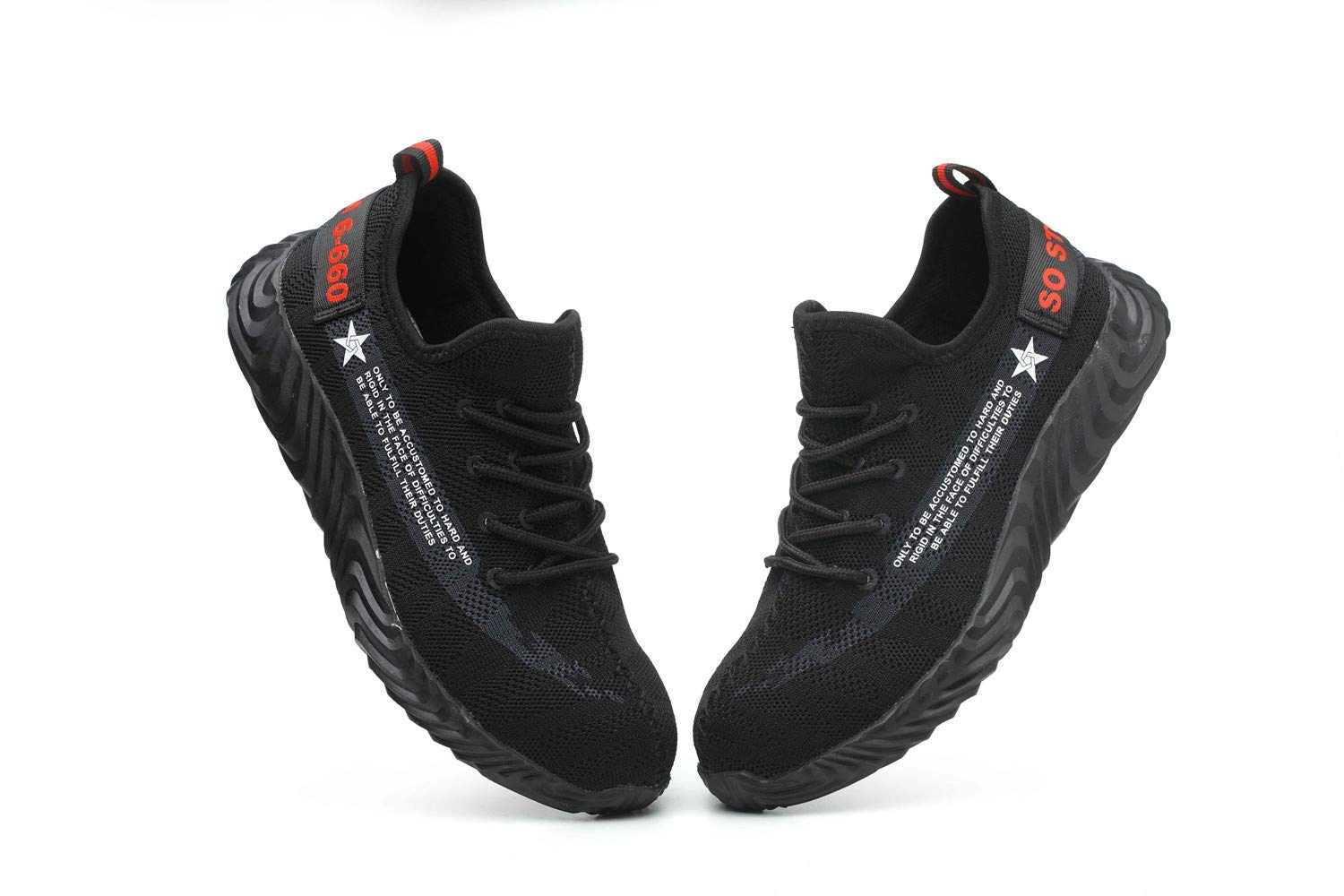 Work Shoes for Men and Women Safety Shoes for Women Non-slip Working Shoes Industrial & Construction Work Trainer Footwear by AiKim (Image #3)