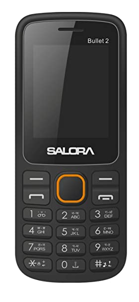 Salora KC12 Bullet 2 S Black  amp; Orange  Made In India  Basic Mobiles