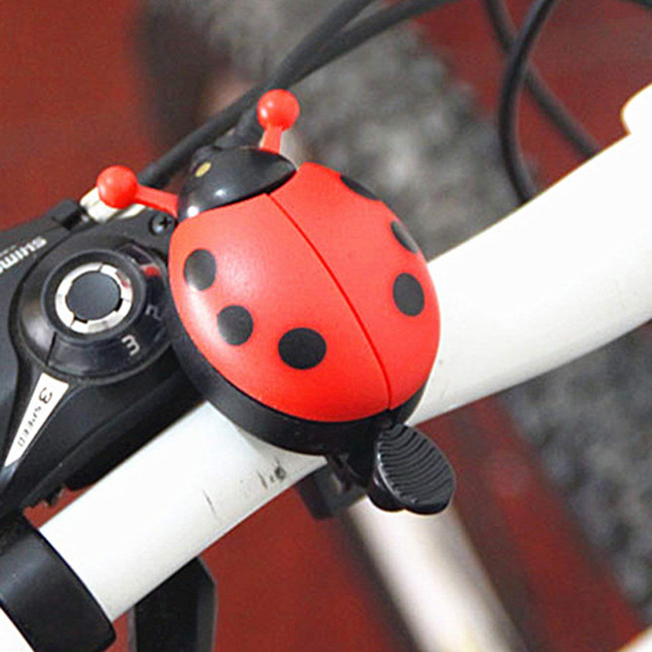 Timbre para bicicleta dise/ño de mariquita