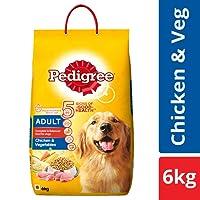 Pedigree Adult Dry Dog Food, Chicken and Vegetables, 6 kg