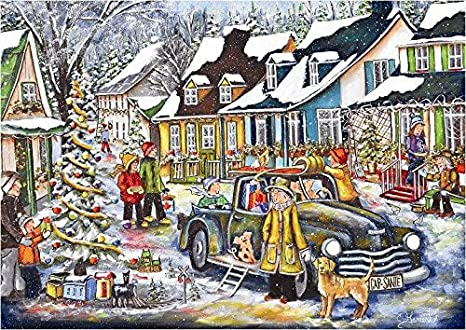 Amazon com: Trefl Good Old Times Christmas Painted by Christine