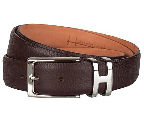 Leder-Gürtel für Herren in Braun  100% Wasserbüffelleder, Gürtel-Schnalle  nickelfrei, hergestellt in Handarbeit, ideal als Jeans-Gürtel, Anzug-Gürtel  ... 13d639159e