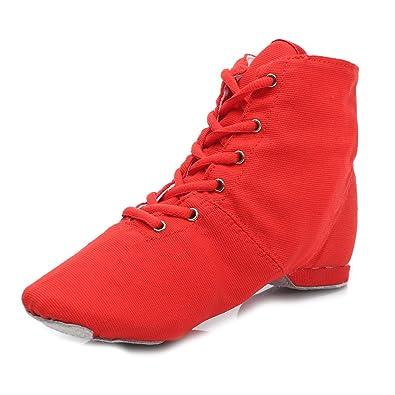 HROYL Damen Sneaker Tanzschuhe Moderne Tanzschuhe jazzdance Schuhe Modell  Jazz Rot EU 35 6a172b14f0