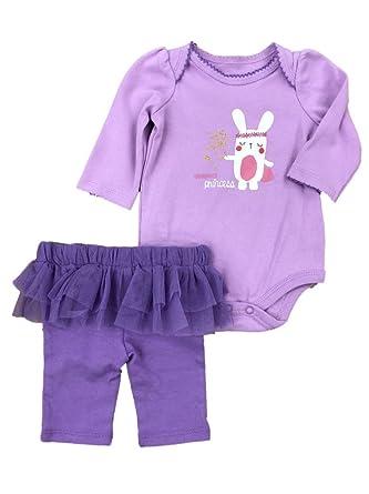 563f71622 Infant Girls Grandmas Princess Baby Outfit Bunny Rabbit Bodysuit & Leggings  NB