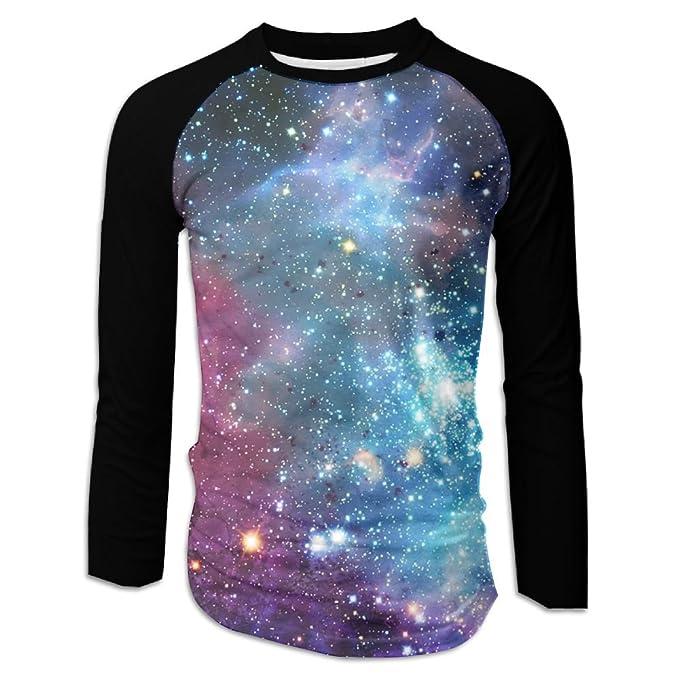 b720f89cb DAHUACHUANGZHAN 3D Print Outer Space Nebula Mens Long Sleeve Shirt ...