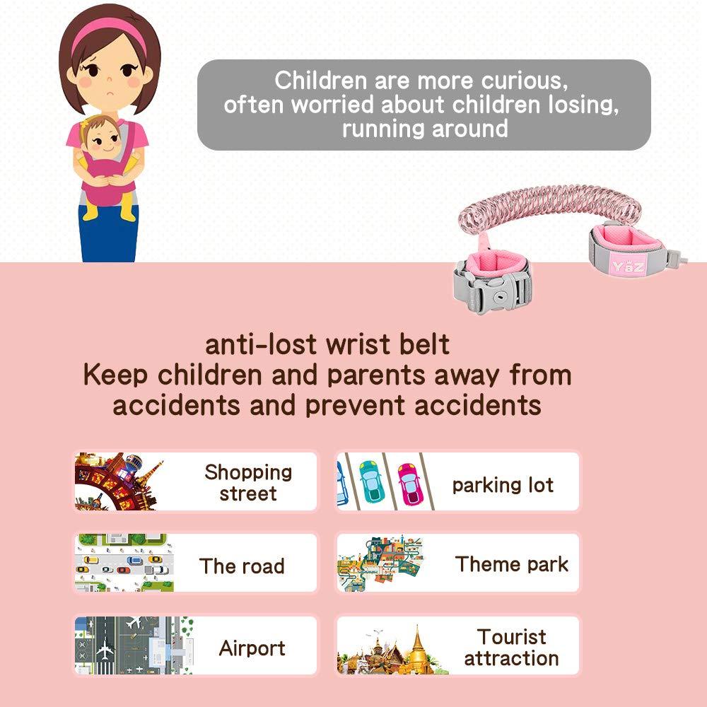 iitrust bambino Anti-perso Belt Helper Viaggiare il bambino scherza il Safty Anti perso Nastro polso della mano di collegamento Bungee guinzagli Per la sicurezza del cablaggio del bambino