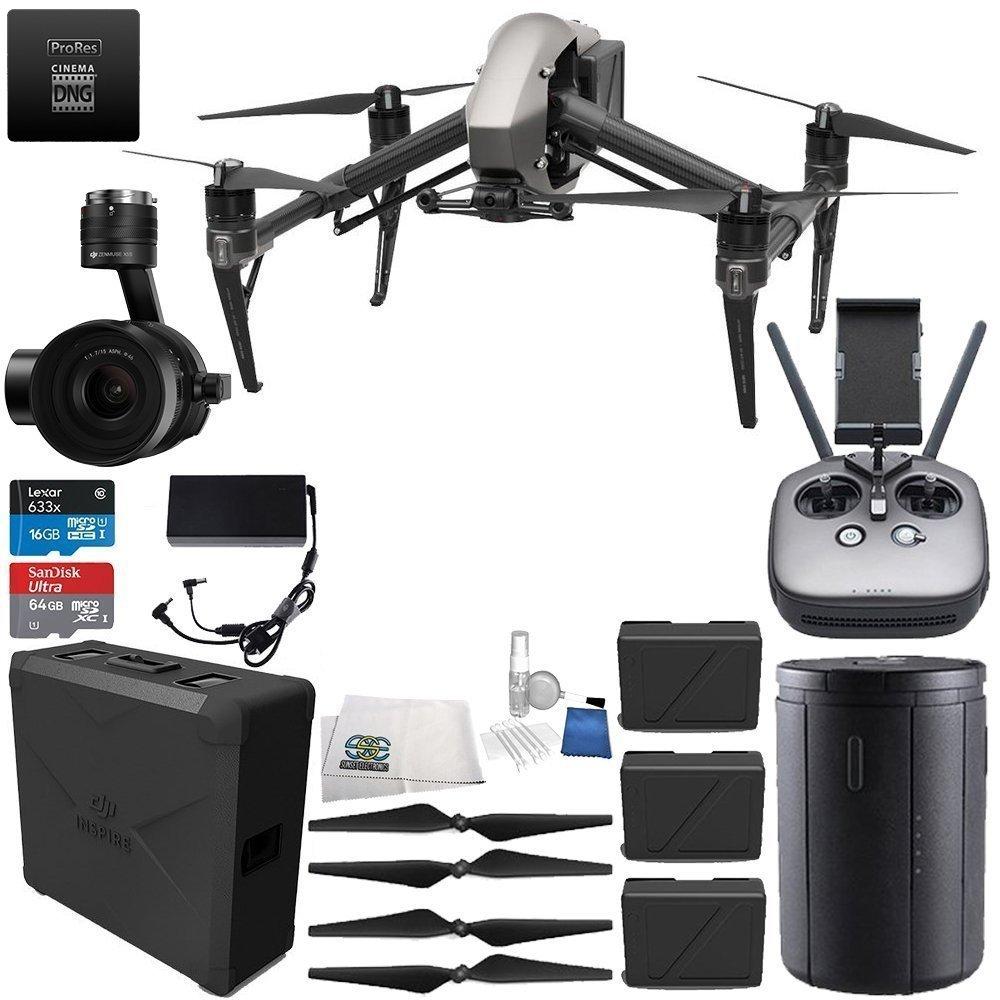 DJI Inspire 2 Quadcopter Premium Combo w/ Zenmuse X5S Camera...