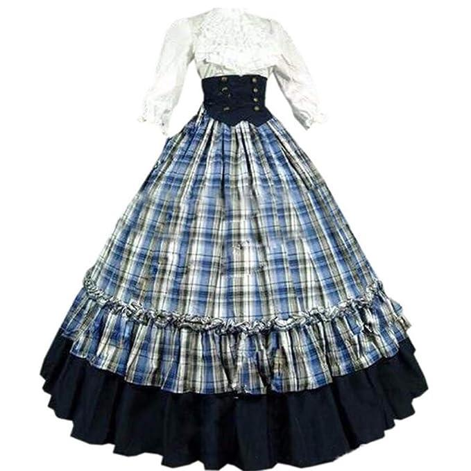 Amazon.com: Loli Miss - Vestido largo para mujer gótico ...
