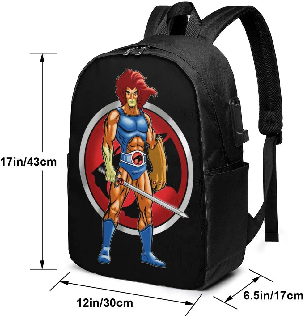 ShleyRobbie Thundercats 17 inch Laptop Backpack with USB Charger Port for Travel Business Backpack