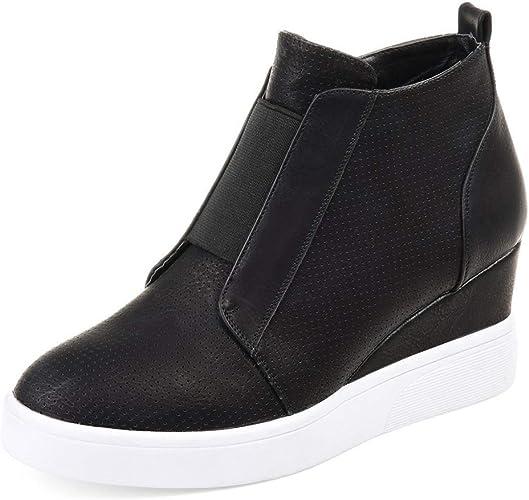 Side Zipper Fashion Wedge Booties Shoes