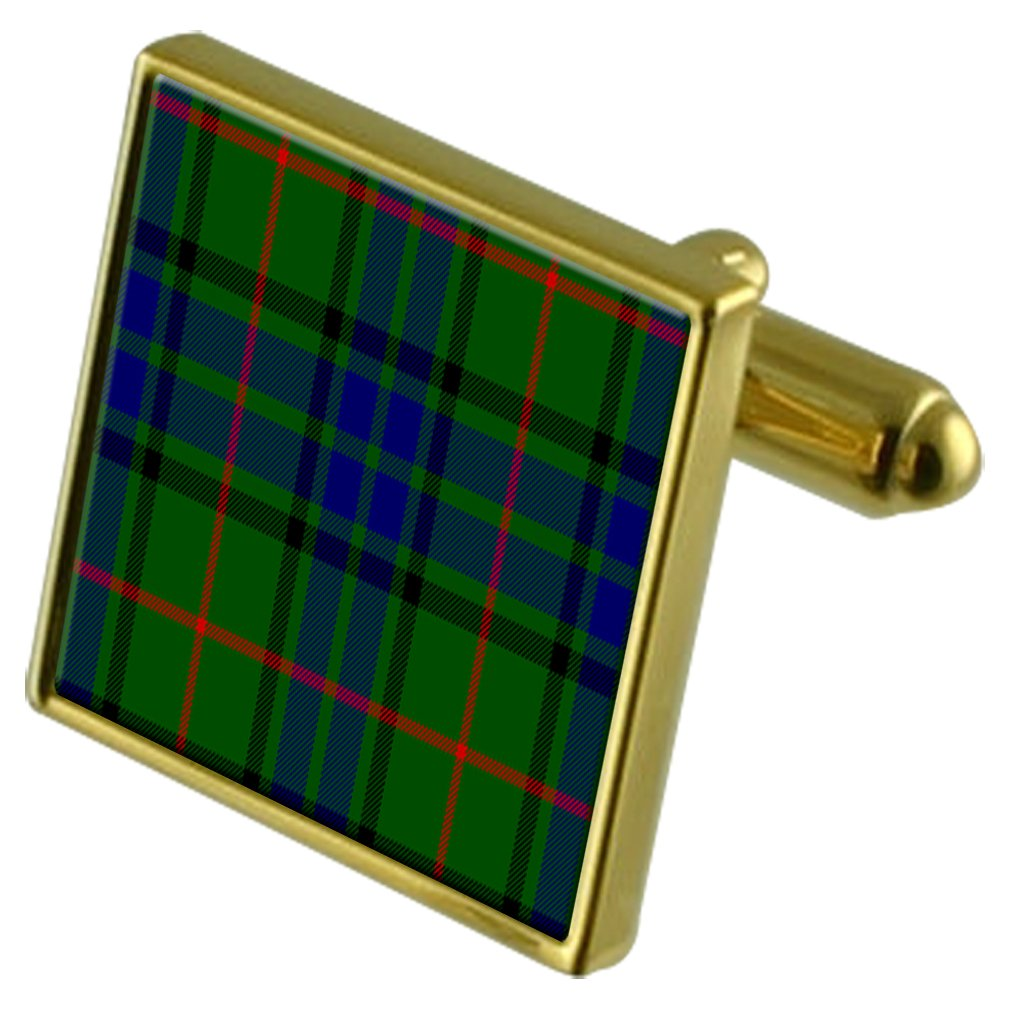 Select Gifts Tartan Clan Lauder Gold Cufflinks