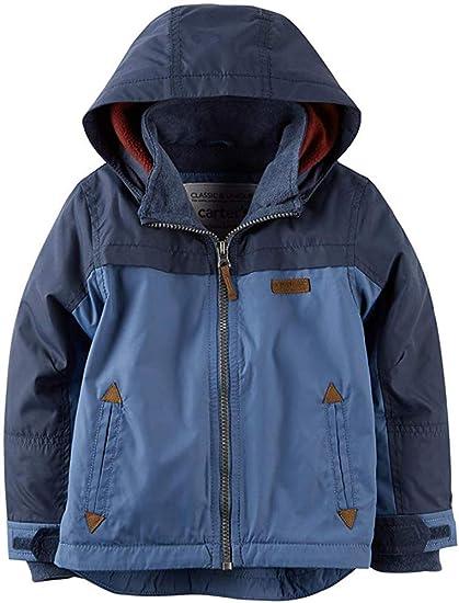 Carter/'s Boys Grey /& Green Fleece Lined Jacket Size 2T 3T 4T 4 5//6 7