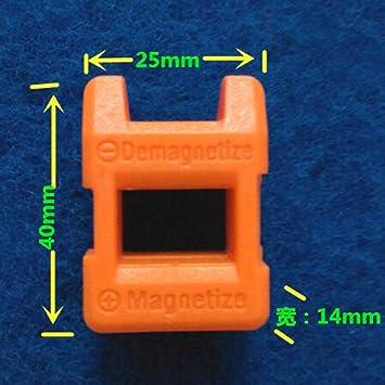 Luwu-Store Destornillador Magnetizador Mini magnetizador Desmagnetizador Herramienta Destornillador Acero Inoxidable Magnetizador 2 en 1