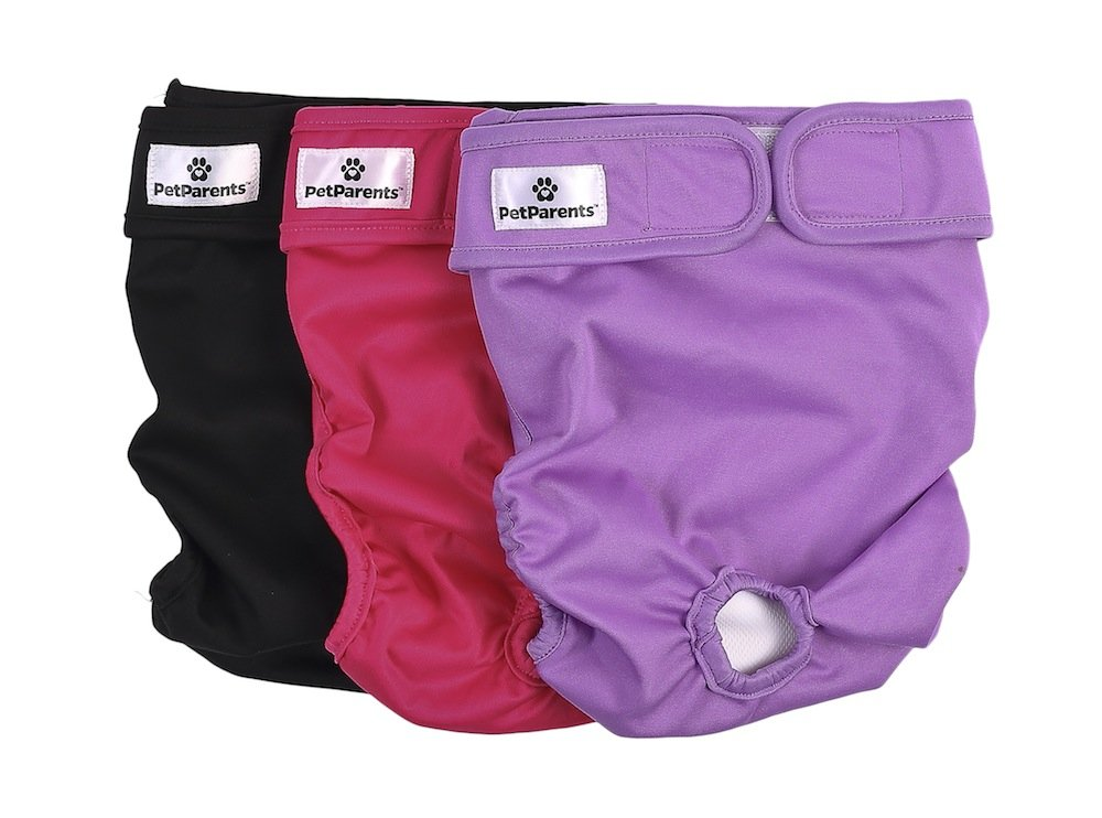 Pet Parents Washable Dog Diapers 3pack of Durable Doggie Diapers Premium Female Dog Diapers Comfy and Stylish Dog Wraps Premium Diapers for Dogs
