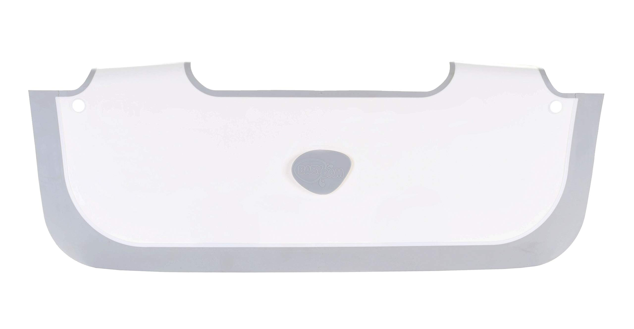 BabyDam Bathwater Barrier, Converts a Standard Non-Textured Bathtub to a Baby Bathtub