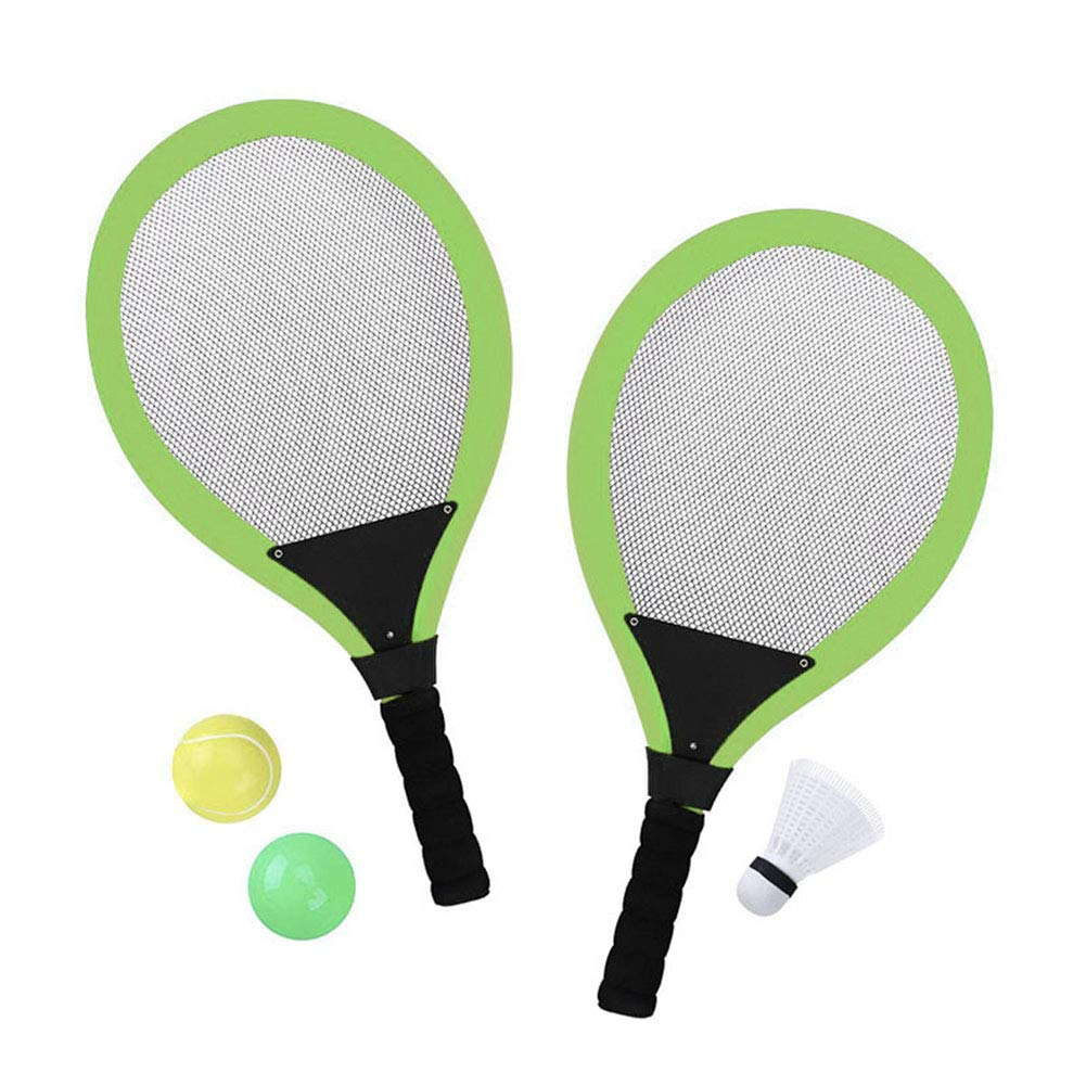 yagaga Kids Tennis Rackets Set with Shuttlecock Plus 2 Balls Child Badminton Sports Game