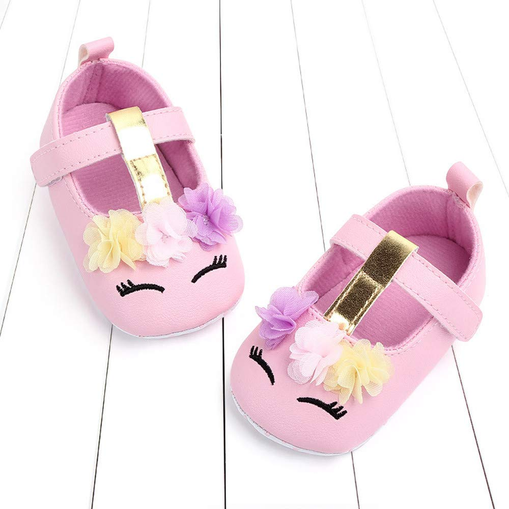 NUWFOR Cute Baby Girls Newborn Infant Cartoon Floral Casual First Walker Toddler Shoes(Pink,6-9Months) by NUWFOR (Image #5)