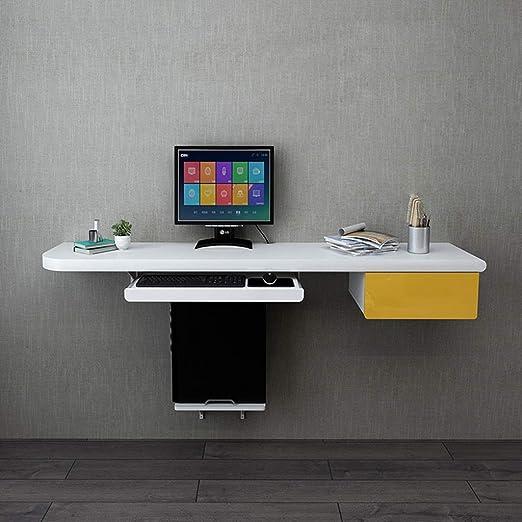 Estante Escritorio de pared Mesa for computadora con bandeja for ...