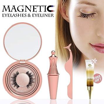 Amazon.com: Pestañas magnéticas, Petribe delineador de ojos ...