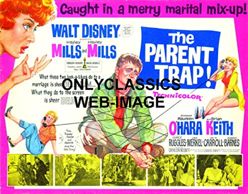 OnlyClassics 1961 Disney's The Parent Trap Hayley Mills Lobby Card Poster O'Hara, Brian Keith